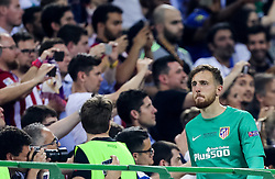 Jan Oblak of Atlético looks dejected at trophy ceremony after the football match between Real Madrid (ESP) and Atlético de Madrid (ESP) in Final of UEFA Champions League 2016, on May 28, 2016 in San Siro Stadium, Milan, Italy. Photo by Vid Ponikvar / Sportida
