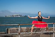 Professional ballerina poses for a dance portrait in San Francisco, California, on June 11, 2015. (Stan Olszewski/SOSKIphoto)