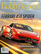Magazine Cover - Robb Report Ferarri 458 Spider