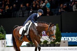 GRAVES Laura (USA), Verdades<br /> Paris - FEI World Cup Finals 2018<br /> FEI World Cup Dressage Freestyle/Kür<br /> www.sportfotos-lafrentz.de/Stefan Lafrentz<br /> 14. April 2018