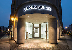 Exterior of Galerie Gerken, art gallery on Linienstrasse, a street with many art galleries in Mitte Berlin Germany