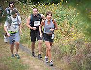 Kerhonkson, New York - Runners move through Minnewaska State Park Preserve during the Shawangunk Ridge Trail Run/Hike 20-mile race on Sept. 20, 2014.