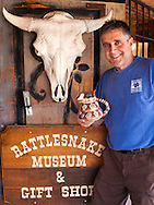 Bob Myers, owner, Rattlesnake Museum, Albuquerque, New Mexico, Route 66