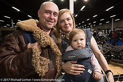 Anastasia, Tasia and Vasily Kostin at the Custom and Tuning Show in Moscow, Russia. Saturday April 22, 2017. Photography ©2017 Michael Lichter.