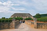 Winery building. Louis Latour. Aloxe-Corton village, Cote de Beaune, d'Or, Burgundy, France