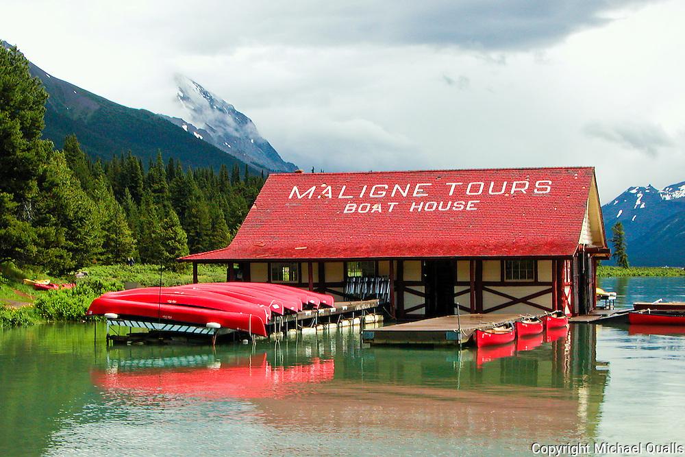 The original boat house on Lake Malinge