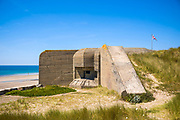 World War II German bunker at Channel Islands Military Museum at Les Laveurs Beach, St Ouen, west coast of Jersey, Channel Isles