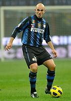 Esteban Cambiasso (Inter) <br /> Inter Bologna - Campionato di Seire A Tim 2010-2011<br /> Stadio Giuseppe Meazza, San Siro, Milano, 15/01/2011<br /> © Giorgio Perottino / Insidefoto
