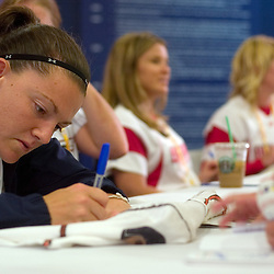 National Pro Fastpitch softball player Stacie Pestrak signs autographs during the 2007 DHL All-Star FanFest, Saturday, July 7 at Moscone Center West in San Francisco...Photo by David Calvert/MLB.com