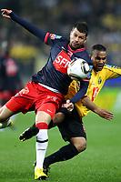 FOOTBALL - FRENCH CUP 2009/2010 - 1/2 FINAL - US QUEVILLY v PARIS SAINT GERMAIN - 14/04/2010 - PHOTO ERIC BRETAGNON / DPPI -MATEJA KEZMAN (PSG)/ ANTHONY LAUP (QUE)