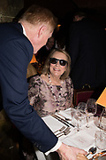 NINA CAMPBELL, Pedro Girao of Christies and Duncan Macintyre of Lombard Odier host the last dinner at the Old Annabels. 44 Berkeley Sq. London. 15 November 2018