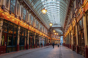 Leadenhall Market on the 20th September 2019 in London in the United Kingdom.