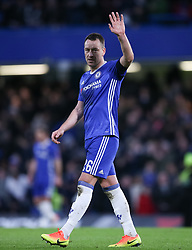 File photo dated 28-01-2017 of Chelsea's John Terry gestures to the fans.
