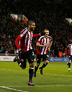 Leon Clarke of Sheffield Utd celebrates scoring the first goal during the English League One match at Bramall Lane Stadium, Sheffield. Picture date: April 5th 2017. Pic credit should read: Simon Bellis/Sportimage