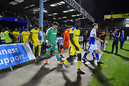 The teams come out for the start of the match before the EFL Sky Bet League 1 match between Bristol Rovers and AFC Wimbledon at the Memorial Stadium, Bristol, England on 23 October 2018.