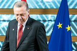 May 25, 2017 - Brussels, Bxl, Belgium - Turkish President Recep Tayyip Erdogan arrives prior to the meeting at European Council headquartersin Brussels, Belgium on 25.05.2017 by Wiktor Dabkowski (Credit Image: © Wiktor Dabkowski via ZUMA Wire)