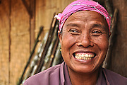 Portrait of a smiling woman, Laos