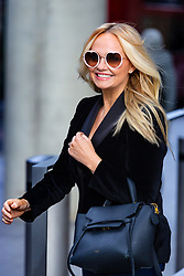 Spice Girl Emma Bunton, who has released a new album My Happy Place, leaves The Chris Evans Breakfast Radio Show on Virgin with Sky in London. London, April 05 2019.