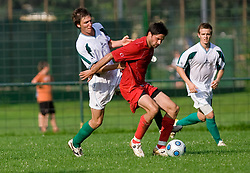 Blaz Puc  during preseason friendly football match between NK Olimpija and SPINS selection, on June 30, 2009, in Menges, Slovenia. SPINS won 3:2.(Photo by Vid Ponikvar / Sportida)
