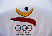 Barcelona, SPAIN.  Sign, Symbols  and Logo's for Barcelona 92. 1992 Olympic Rowing Regatta Lake Banyoles, Catalonia [Mandatory Credit Peter Spurrier/ Intersport Images]
