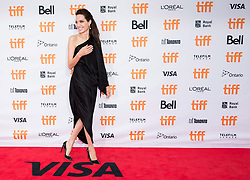 """Director and Actress Angelina Jolie poses for photographs on the red carpet for the movie """"First They Killed My Father"""" during the 2017 Toronto International Film Festival in Toronto, ON, Canada, on Monday, September 11, 2017. Photo by Nathan Denette/CP/ABACAPRESS.COM"""