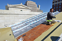 New Haven Courthouse GA 23 Phase 1. Project No: BI-JD-299<br /> Architect: JCJ Architecture  Contractor: Kronenberger Restoration<br /> James R Anderson Photography New Haven CT photog.com<br /> Date of Photograph: 23 September 2013<br /> Camera View: Northeast. Roof, Front. West Side.  No.: 29