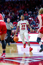 NORMAL, IL - February 07: Juliunn Redmond during a college women's basketball game between the ISU Redbirds and the Braves of Bradley University February 07 2020 at Redbird Arena in Normal, IL. (Photo by Alan Look)