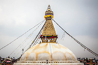 Boudhanath Stupa is one of the largest Buddhist stupas in the world.