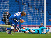 Brighton striker Bobby Zamora opens the scoring during the Sky Bet Championship match between Brighton and Hove Albion and Huddersfield Town at the American Express Community Stadium, Brighton and Hove, England on 23 January 2016. Photo by Bennett Dean.