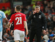 Ole Gunnar Solskjaer manager of Manchester United tells Daniel James of Manchester United to think about his decisions during the Premier League match at Old Trafford, Manchester. Picture date: 8th March 2020. Picture credit should read: Darren Staples/Sportimage