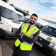National Express Accessible Transport (NEAT)  Managing Director Vinay Parmar pictured at the Birmingham Depot. Picture by Shaun Fellows / Shine Pix Ltd
