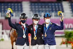 Krajewski Julia, GER, Mcewen Tom, GBR, Hoy Andrew, AUS<br /> Olympic Games Tokyo 2021<br /> © Hippo Foto - Stefan Lafrentz<br /> 02/08/2021