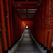 Tokyo, Japan, March 2009.<br /> Hie Jinja Torii gate - Akasaka.