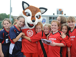 Fans with vixen - Photo mandatory by-line: Dougie Allward/JMP - Mobile: 07966 386802 - 28/09/2014 - SPORT - Women's Football - Bristol - SGS Wise Campus - Bristol Academy Women's v Manchester City Women's - Women's Super League