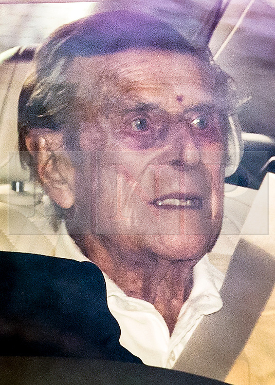 © Licensed to London News Pictures. 16/03/2021. London, UK. PRINCE PHILIP, THE DUKE OF EDINBURGH  is driven from King Edward VII hospital in London. The Duke has spent a number of nights in hospital care after being admitted under doctors advice for an illness unrelated to COVID-19. Photo credit: Ben Cawthra/LNP