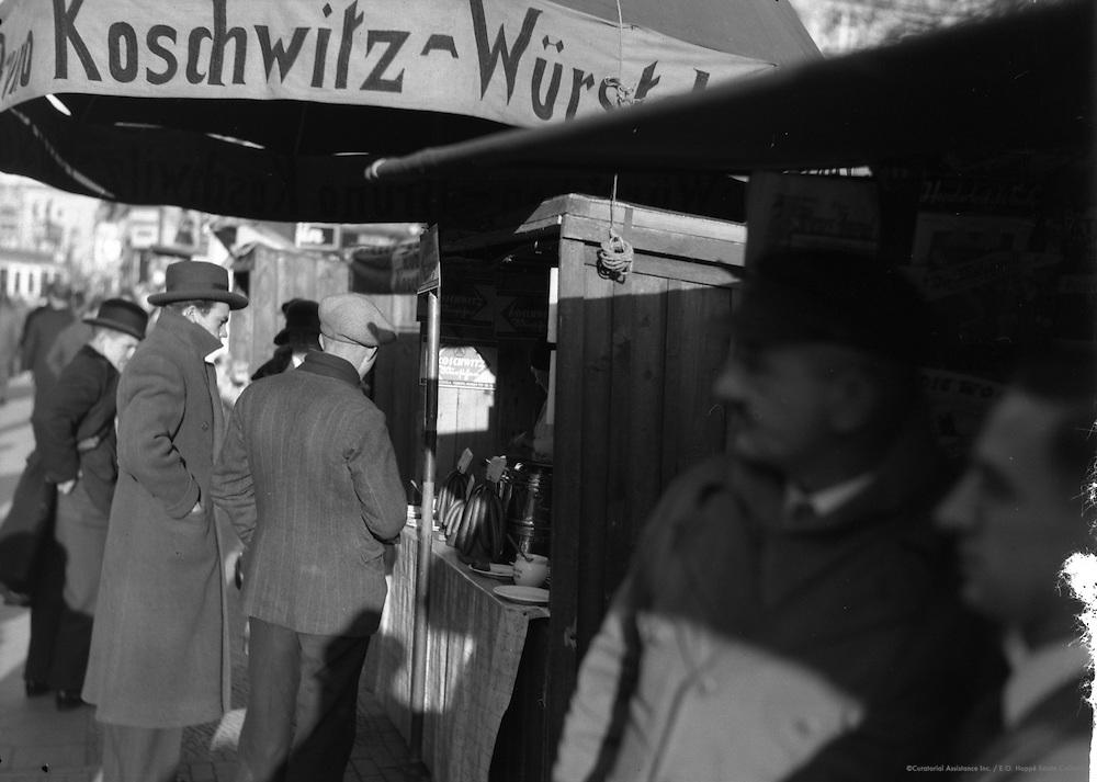 Hot Sausage Stand, Berlin, 1931