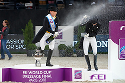 WERTH Isabell (GER),  VON BREDOW-WERNDL Jessica (GER)<br /> Paris - FEI World Cup Finals 2018<br /> FEI World Cup Dressage Freestyle/Kür<br /> www.sportfotos-lafrentz.de/Stefan Lafrentz<br /> 14. April 2018