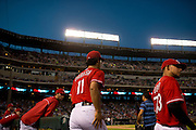 ARLINGTON, TX - JULY 09:  Yu Darvish #11 of the Texas Rangers walks to the mound during the sixth inning against the Houston Astros on July 9, 2014 at Globe Life Park in Arlington in Arlington, Texas.  (Photo by Cooper Neill/Getty Images) *** Local Caption *** Yu Darvish