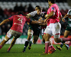 Ed Slater of Leicester Tigers (C) in action - Mandatory byline: Jack Phillips / JMP - 07966386802 - 13/11/15 - RUGBY - Welford Road, Leicester, Leicestershire - Leicester Tigers v Stade Francais - European Rugby Champions Cup Pool 4