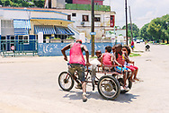 One of the many improvised forms of transport in Cuba.<br /> Playa, Havana