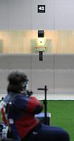 Paralympics London 2012 - ParalympicsGB - Shooting Womens R2-10m Air Rifle Standing - SH1 Heats 30th August 2012.  .Karen Butler competing in the Womens R2-10m Air Rifle Standing - SH1 Heats at the Paralympic Games in London. Photo: Richard Washbrooke/ParalympicsGB