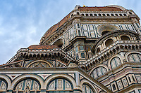 FLORENCE, ITALY - CIRCA MAY 2015: Architectural detail of the  Florence Cathedral,  Santa Maria del Fiore, known as The Duomo