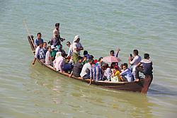 People Crossing the Ayeyarwady River