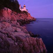 Historic Bass Harbor Lighthouse still shines in Acadia National Park, Maine.