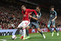 Football - 2016 / 2017 UEFA Europa League - Semi-Final, Second Leg: Manchester United [1] vs. Celta Vigo [0]<br /> <br /> Wayne Rooney of Manchester United competes with Jonny Otto of Celta De Vigo.<br /> <br /> COLORSPORT/LYNNE CAMERON