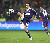 Photo: Maarten Straetemans/Sportsbeat Images.<br /> Anderlecht v Tottenham Hotspur. UEFA Cup. 06/12/2007.<br /> Ahmed Hassan (Anderlecht)