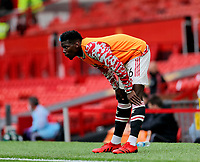 Football - 2021 / 2022 Pre-Season Friendly - Manchester United vs Everton - Old Trafford - Saturday 7th August 2021<br /> <br /> Paul Pogba of Manchester United looks on from the touchline before coming on as substitute, at Old Trafford.<br /> <br /> COLORSPORT/ALAN MARTIN