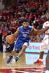 14 November 2016:  Kason Harrell(32) drops past the top of the key working against Andre Washington(15) during an NCAA  mens basketball game between the Indiana Purdue Fort Wayne Mastodons the Illinois State Redbirds in Redbird Arena, Normal IL