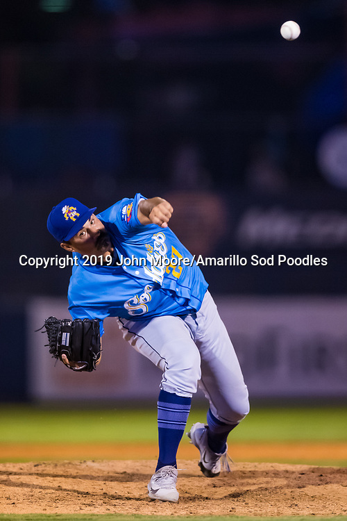 Amarillo Sod Poodles pitcher Travis Radke (27) pitches against the Tulsa Drillers during the Texas League Championship on Saturday, Sept. 14, 2019, at OneOK Field in Tulsa, Oklahoma. [Photo by John Moore/Amarillo Sod Poodles]