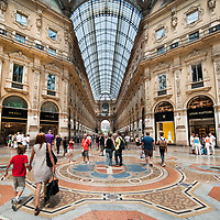 MILAN, ITALY - JULY 03:  Shoppers in the Galleria Vittorio Emanuele II in Milan on the first day of the Summer Sales on July 3, 2010 in Milan, Italy. Milan's summer sales start today. .***Agreed Fee's Apply To All Image Use***.Marco Secchi /Xianpix. tel +44 (0) 207 1939846. e-mail ms@msecchi.com .www.marcosecchi.com Discover Milan with a Photo Walk or Photo Tour by Award winner photographer Marco Secchi
